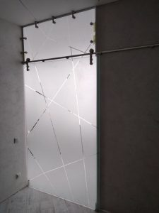 Стекло с нанесением любого матового рисунка для двери в парилку от компании KUB, Одесса